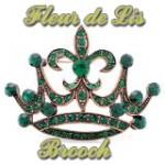 Diseño de Logotipos de Fleur de Lis Brooch